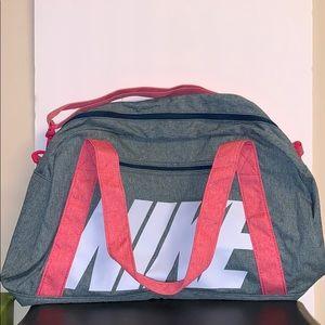 Nike Grey & Pink Duffel Gym Bag